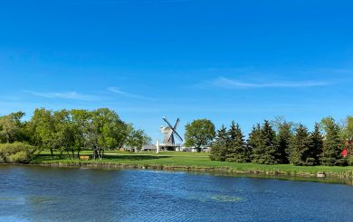 View of the Windmill from the Pond